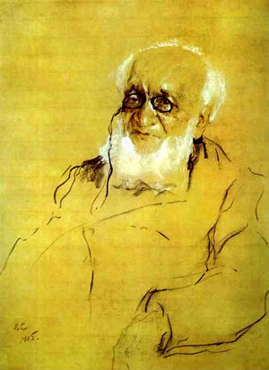Петр Петрович Семёнов-Тян-Шанский. Портрет работы В.А. Серова, 1905 г.