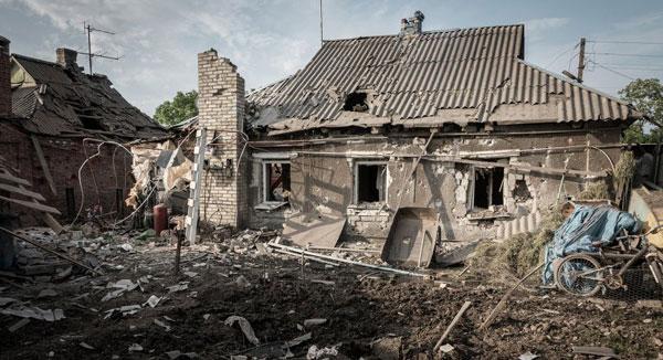Уничтоженный украинскими карателями дом на територии ДНР