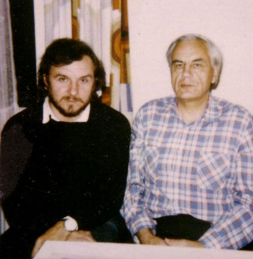 И.Р. Шафаревич и М.В. Назаров. Геттинген (Германия), 15.11.1989
