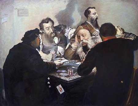 Карточные шулера. Картина И.А. Калганова, конец 1870-х гг.