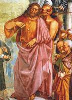 Фрагмент фрески Л. Синьорелли: антихрист с дьяволом, XV в.