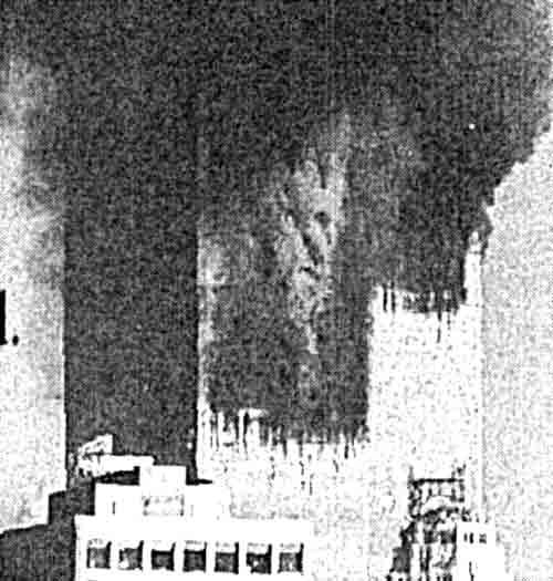 Фото теракта из книги: Delacroix Jacques. Attentats du 11 septembre 2001. A qui profit le crime? Chateauneuf
