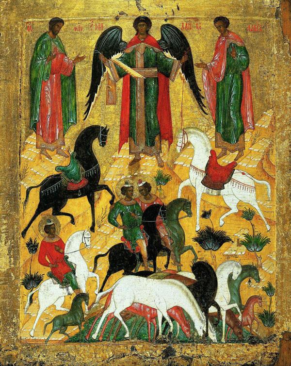 Чудо о Флоре и Лавре (конец XV в., Государственная Третьяковская галерея)