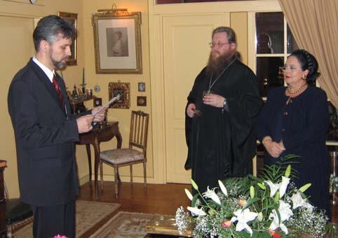 Депутат Госдумы А.Н. Савельев в Мадриде присягает Государыне Марии I