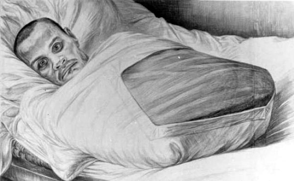 Инвалид Великой Отечественной. Рисунок Геннадия Доброва