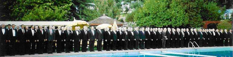 XII Съезд  кадет Российских кадетских корпусов за рубежом. 21 сентября 1990 г., Санта Роза, Калифорния, США