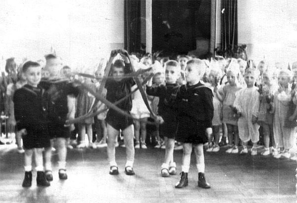 В детском саду. Макеевка, примерно 1952-53 г.