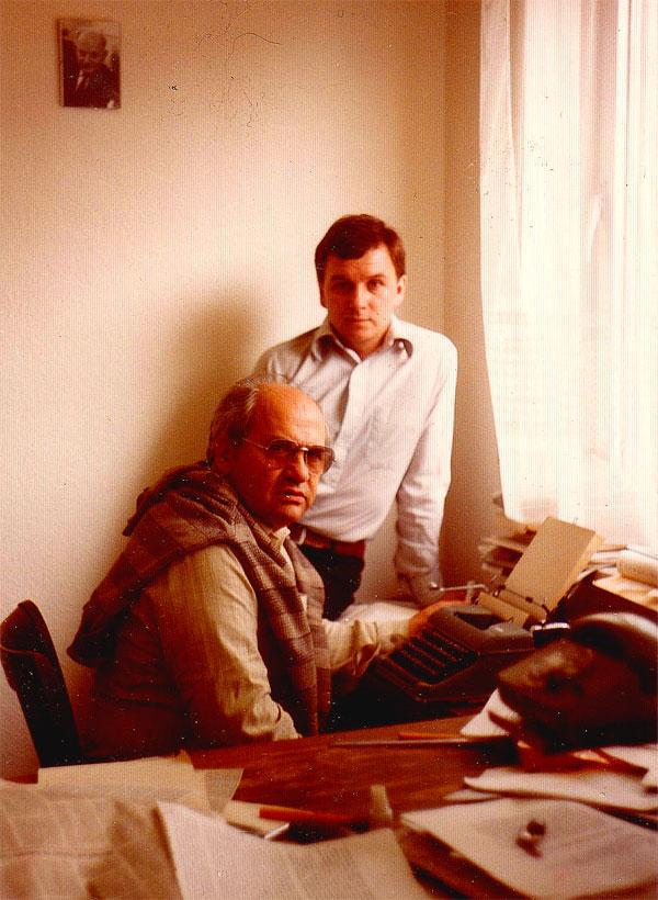 Гл. редактор «Посева» Я.А. Трушнович, отв. секретарь М.В. Назаров, примерно 1982-84 гг. В то время это и был весь рабочий состав редакции