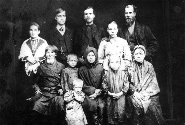 Семья предков Рузиных, конец XIX века