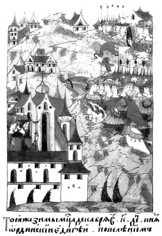 Татарский хан Едигей осадил Москву