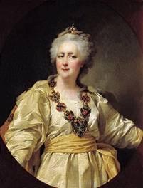 Императрица Екатерина II. Портрет работы Д. Левицкого