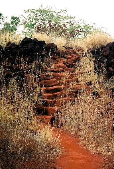 Остатки каменной лестницы в крепости Елизаветы