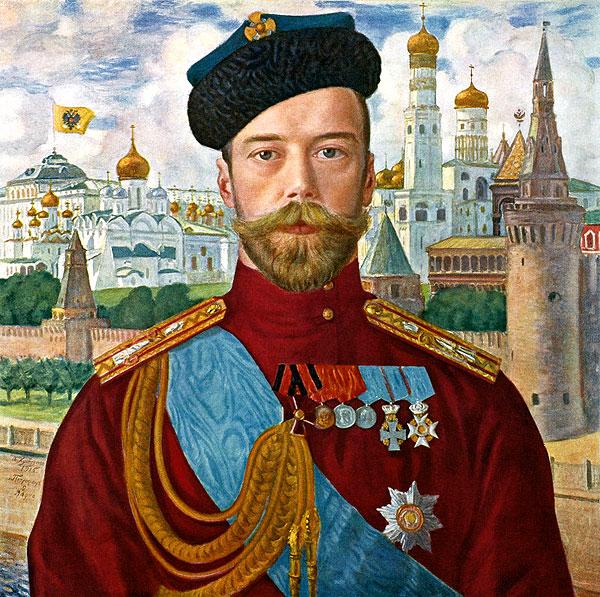 Б. М. Кустодиев. Государь Николай II. 1915