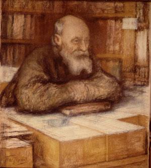 Портрет Н.Ф. Федорова работы Леонида Пастернака