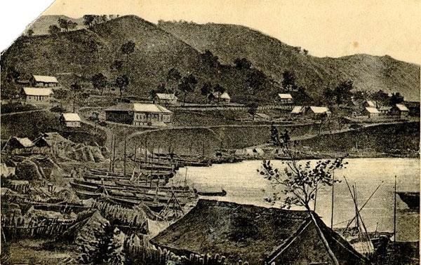 Вид города Владивосток в 1866 году.
