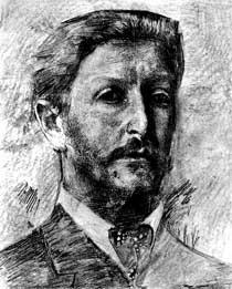 художник Михаил Александрович Врубель. Автопортрет. 1904