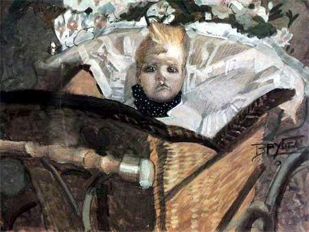 художник Михаил Александрович Врубель. Портрет сына художника. 1902