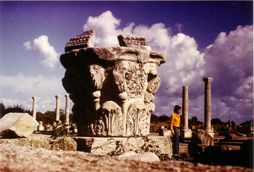 На руинах античного города Гиппона у подножия холма с храмом бл. Августина. Аннаба, Алжир, 1975