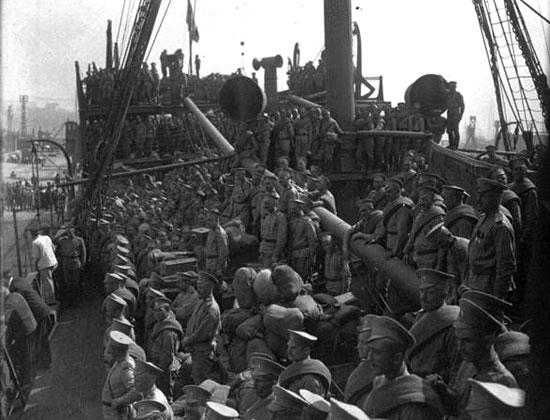 Прибытие в Марсель 20 апреля 1916