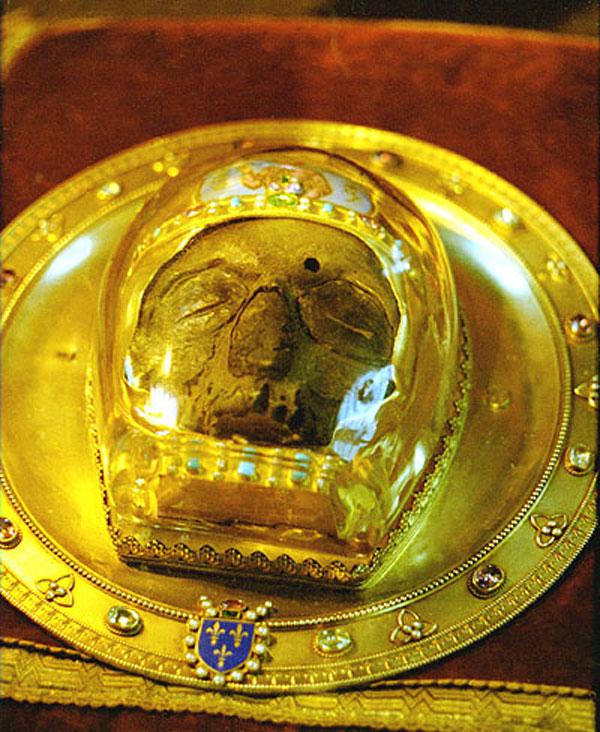 Честная глава святого Иоанна Предтечи в кафедральном соборе Амьена (Франция)