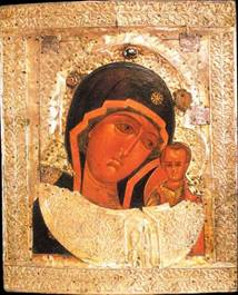 Копия иконы явленной чудотворной Казанской Божией Матери