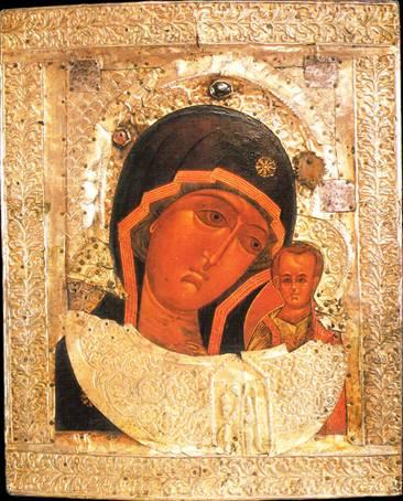Казанская икона Божией Матери. Один из списков XVII века