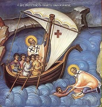 Однажды корабль, плывший из Египта в Ликию, был застигнут сильнейшей бурей