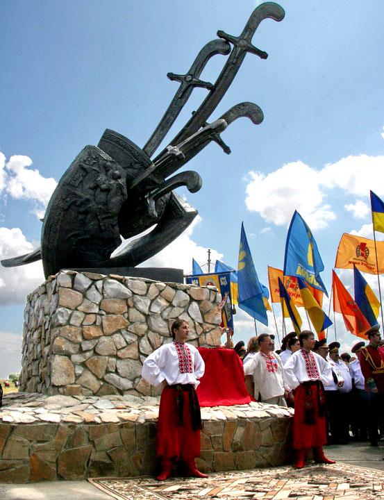 Памятный знак в честь поражения русских войск от народов Западной Европы в битве под Конотопом во время русско-польской войны 1654-1667 гг.