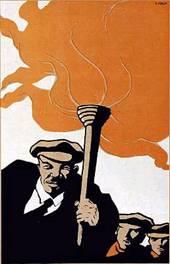 Советский художник Д.С. Моор. Плакат 1919 года. Экстремист Ленин