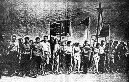 Рабочие НЕВЗа и других заводов вместе с семьями на демонстрации в Новочеркасске, 1962 год