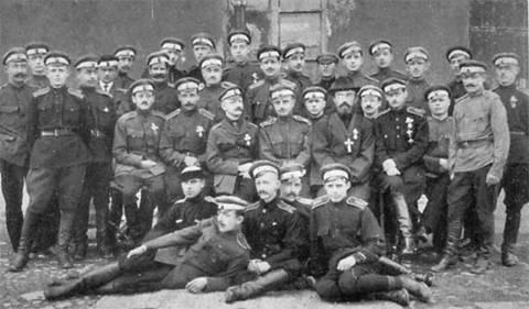 Офицеры Дроздовской дивизии. 1920 г. Галлиполи