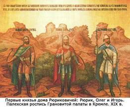 Первые князья дома Рюриковичей: Рюрик, Олег и Игорь