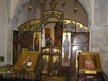 Православный придел в базилике свт. Николая в Бари рядом с гробницей святителя