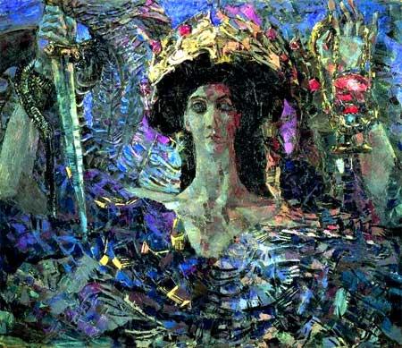 художник Михаил Александрович Врубель. Шестикрылый серафим (Азраил). 1904
