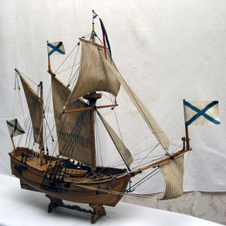 Модель судна Беринга в Первой Камчатской экспедиции
