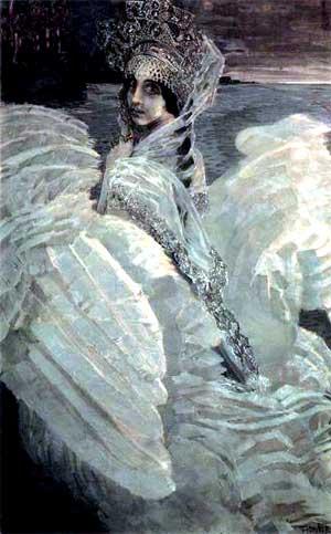 художник Михаил Александрович Врубель. Царевна-Лебедь. 1900