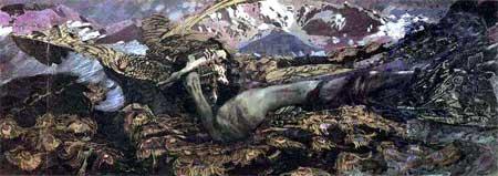 художник Михаил Александрович Врубель. Демон поверженный. 1902