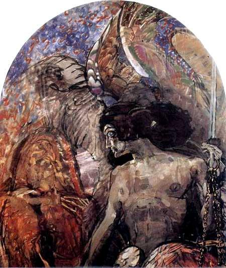 художник Михаил Александрович Врубель. Пророк. 1898