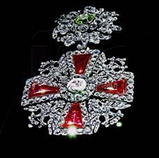 Знак ордена Св.Александра Невского из Алмазного фонда