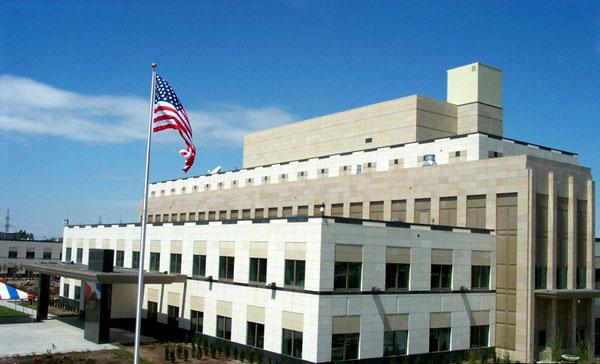 Новое посольство США, которое называют самым большим (по другим данным, вторым по величине) американским посольством в мiре