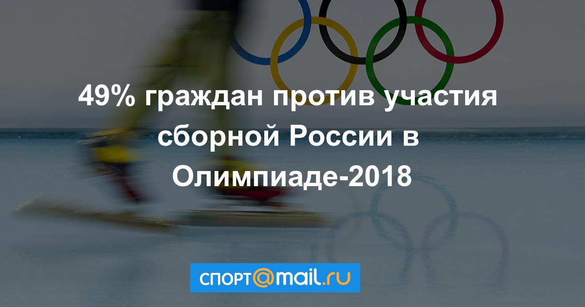 Опросы общественного мнения показывают, что 49 % граждан РФ против участия в Олимпиаде в обезличенном статусе, 27 % ‒ за, остальные не определились.