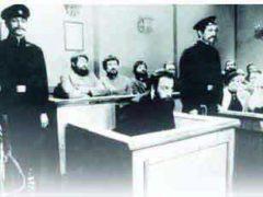 Признание судом факта ритуального убийства Андрюши Ющинского на еврейском заводе и оправдание лично Бейлиса за недостаточностью прямых улик шестью голосами против шести.