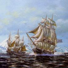Открытие материка Антарктиды русскими кораблями