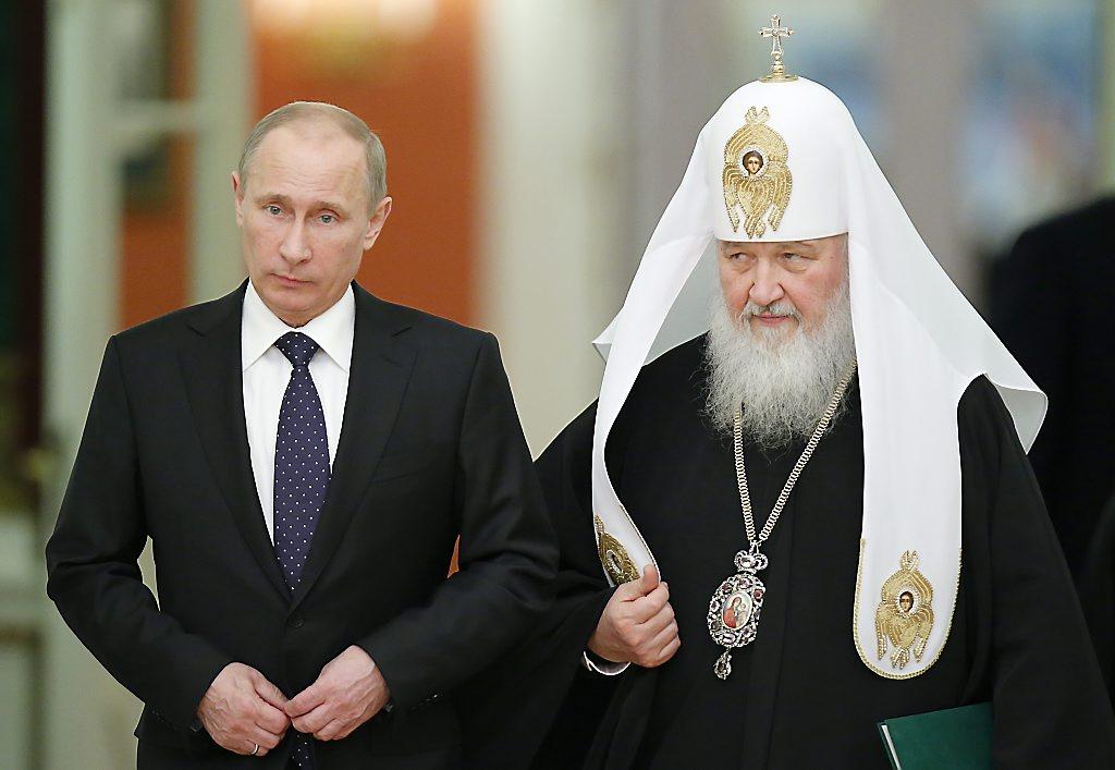 Власти. Президент В.В. Путин и патриарх РПЦ МП Кирилл