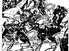 """Победа Александра Невского над немецкими рыцарями на Чудском озере (""""Ледовое побоище"""")"""