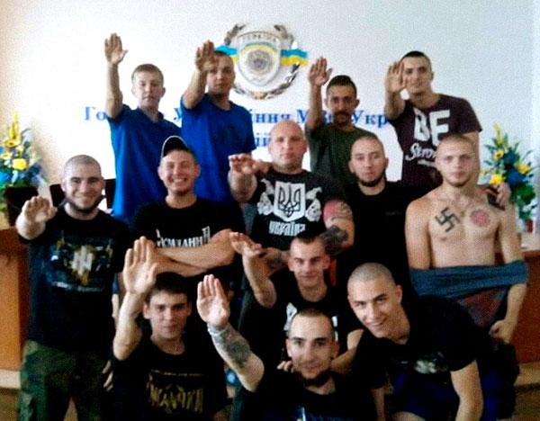 Нацисты в главном управлении МВД Украины