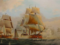 Выборгское сражение русского флота под командованием адмирала В.Я. Чичагова со шведской эскадрой